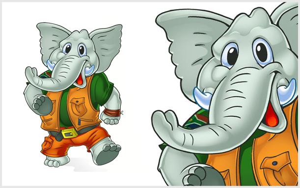 ILUSTRACIJA ELEPHANT