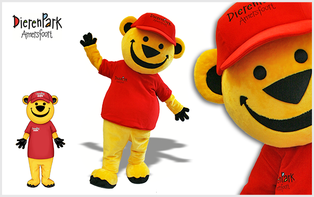 MASCOT-YELLOW-BEAR THE NETHERLANDS