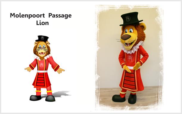 MOLENPOORT LION MASCOT