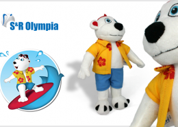 PLUSH TOY BEAR OLYMPIA