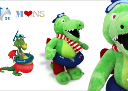 PLUSH TOY CROCODILE
