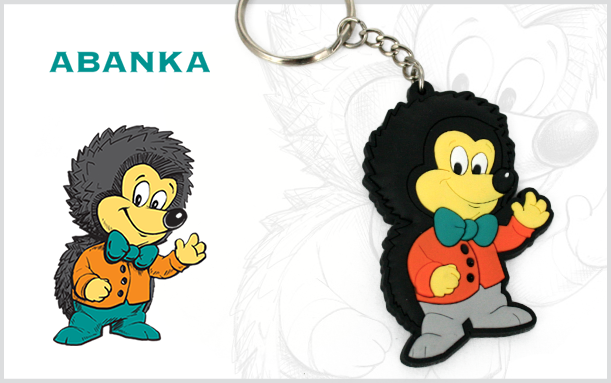 PROMOTIONAL 2D KEYCHAIN HEDGEHOG