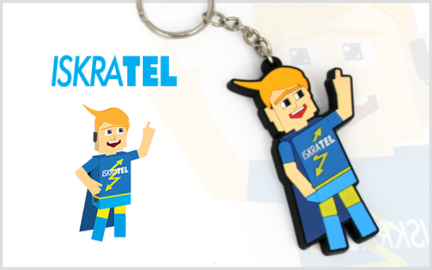 PROMOTIONAL 2D KEYCHAIN ISKRATEL
