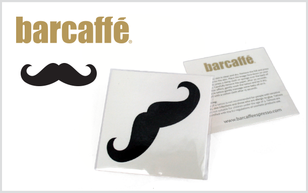 PROMOTIONAL TATTOO BARCAFFE MOUSTACHE