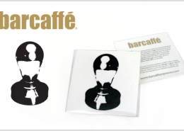 PROMOTIONAL TATTOO BARCAFFE STAMP