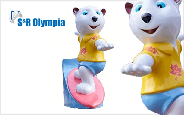 INNOVATIONS 3D SELF STANDING OLYMPIA BEAR