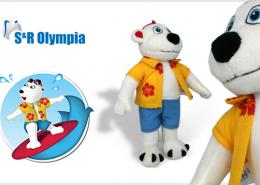 PLUSH TOY BEAR OLYMPIA