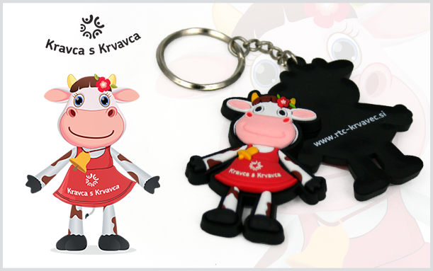 PROMOTIONAL 2D KEYCHAIN COW